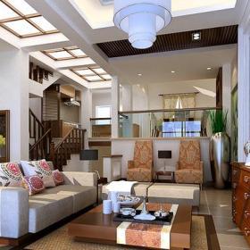235㎡别墅新中式风格客厅吊顶装修效果图新中式风格茶几图片