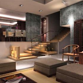 家居摆件简约中式家具椅凳250㎡别墅简约中式风格客厅背景墙装修效果图简约中式风格客厅家具图片