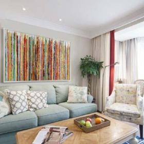 客廳沙發客廳電視背景墻波西米亞風格客廳效果圖