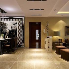 隔斷玄關背景墻客廳玄關歐式風格客餐廳效果圖