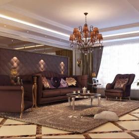 新古典古典新古典风格古典风格客厅别墅吊顶设计图效果图