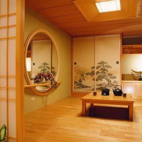 中式客廳榻榻米效果圖