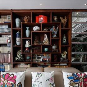 家居客厅博古架效果图片欣赏效果图