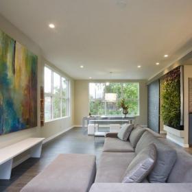 客厅手绘抽象装饰画效果图