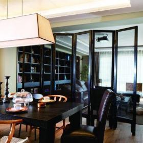 客厅餐厅折叠屏风隔断效果图