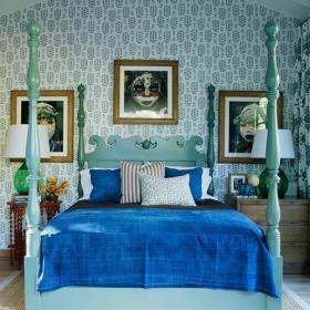 卧室客厅背景墙充满异域风情的床头背景墙设计装修效果图