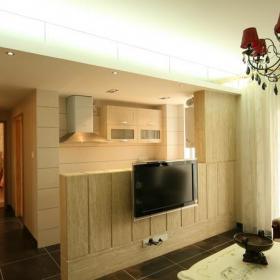 客厅电视背景墙简约欧式木质电视墙效果图欣赏