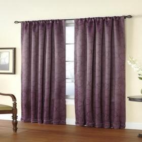 客廳紫色窗簾效果圖