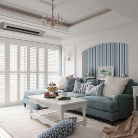 其它三居室客厅窗帘装修效果图