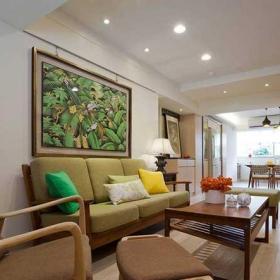 120平米混搭风格三居室混搭客厅沙发设计图片效果图