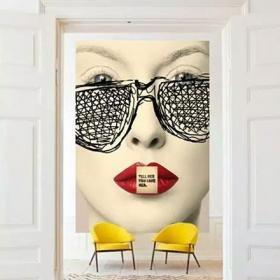 创意摩登客厅装饰画效果图