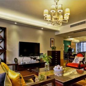 中式客廳博古架裝修效果圖大全