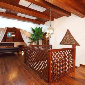 田園客廳三居室咖啡色田園風格大客廳沙發設計效果圖