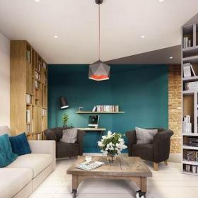 时尚混搭风格多样色彩混搭风小公寓客厅吊顶图片效果图