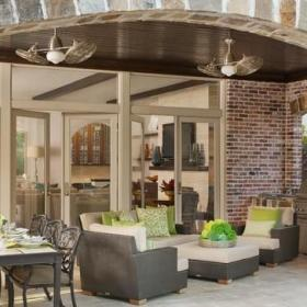 房间欧式风格欧式别墅客厅低调奢华豪华型露台花园装修效果图