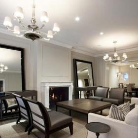 四室兩廳裝修效果圖 四室兩廳裝修樣板房客廳效果圖