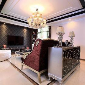 客廳客廳豪華客廳歐美風效果圖