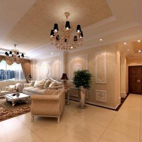 歐式三居客廳裝修效果圖