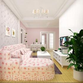 韩式宽敞明亮的大客厅效果图欣赏