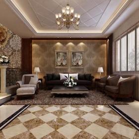 客廳客廳歐式別墅客廳裝修效果圖