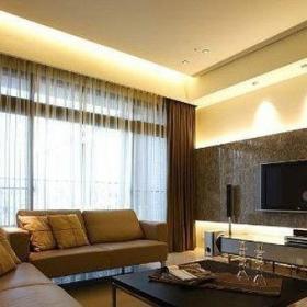 2013年最新大客厅简约电视背景墙效果图