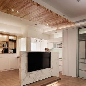 影视墙客厅客厅隔断简约风格半高隔断电视背景墙装修效果图