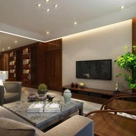 新中式风格客厅电视背景墙装修效果图新中式风格椅凳图片
