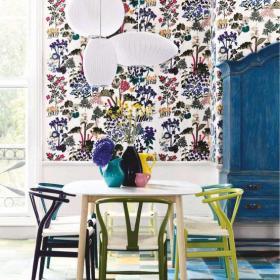 餐桌餐椅客厅背景墙餐厅一角的背景墙设计效果图