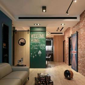 100平米混搭风格104平米混搭客厅装修效果图片