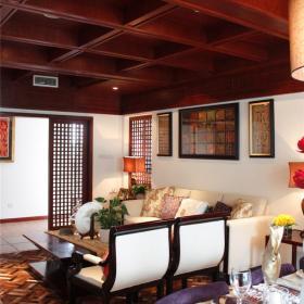 別墅新中式風格客廳裝修圖效果圖欣賞