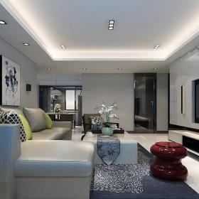 三居客廳沙發效果圖
