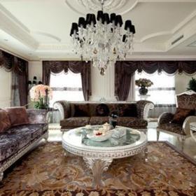 歐式風格客廳效果圖,歐式客廳沙發吊頂圖片