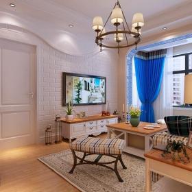 二居客厅电视背景墙造型装修效果图