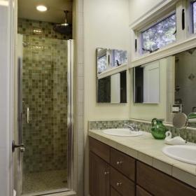 混搭風格客廳復式客廳白色廚房10-15萬130平米家庭設計圖紙效果圖