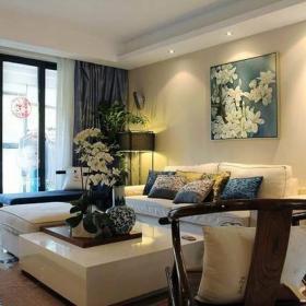 古典客厅沙发单人沙发装修图效果图