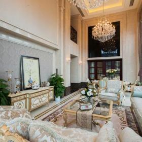 电视柜电视背景墙别墅家具沙发欧式客厅欧式别墅客厅装修装修效果图