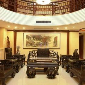 150㎡中式风格联排别墅客厅沙发背景墙装修图中式风格茶几图片效果图大全