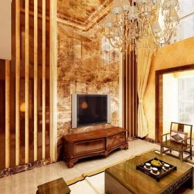 电视背景墙中式风格客厅电视墙效果图