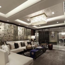 中式客厅样板房设计效果图大全