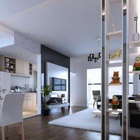 客厅置物架隔断装修设计效果图