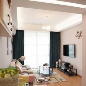 60平米混搭风格二居室温馨混搭客厅效果图