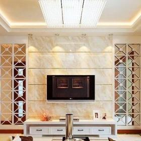 客厅简洁石材电视背景墙设计效果图