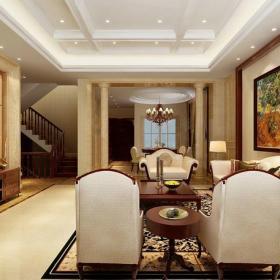簡歐裝飾畫沙發沙發背景墻大戶型茶幾躍層簡歐風格客廳吊頂裝修效果圖簡歐風格邊幾圖片