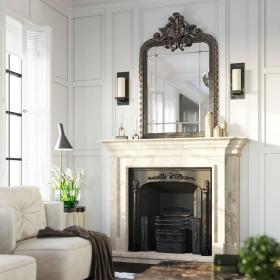 美式客厅壁炉装修设计图片效果图