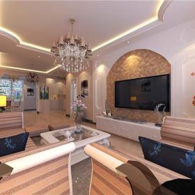 时尚大气的客厅电视墙设计装修效果图