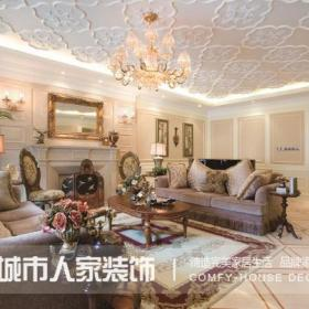 東南亞風格別墅客廳吊頂裝修效果圖,東南亞風格沙發圖片