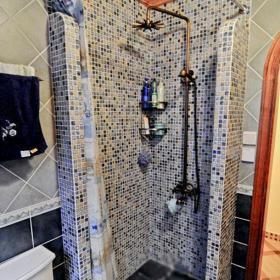 馬賽克背景墻小戶型衛生間客廳背景墻馬賽克淋浴房背景墻設計效果圖