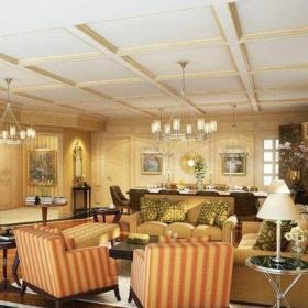 复古的大客厅装修效果图