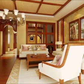 裝飾畫椅東南亞背景墻茶幾東南亞風格客廳沙發背景墻裝修效果圖東南亞風格沙發椅圖片