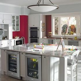 欧式风格客厅3层别墅唯美白色效果图